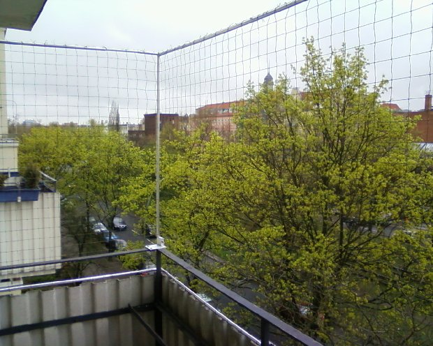 Balkon mit Brüstung x